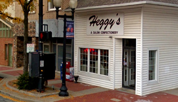 Heggy's Candy Store in Salem, Ohio